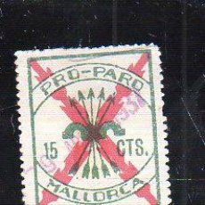Sellos: VIÑETA. GUERRA CIVIL ESPAÑA. PRO-PARO. MALLORCA. CHARNELA . Lote 39911445