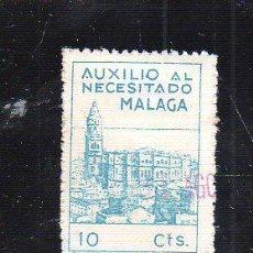 Francobolli: VIÑETA. GUERRA CIVIL ESPAÑA. AUXILIO AL NECESITADO. MALAGA. CHARNELA. Lote 39914174
