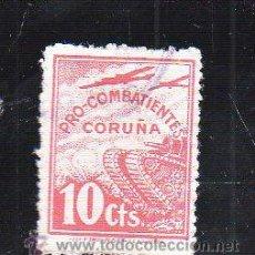 Sellos: VIÑETA. GUERRA CIVIL ESPAÑA. PRO COMBATIENTE. CORUÑA. CHARNELA. Lote 39914467
