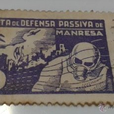 Sellos: VIÑETA JUNTA DE DEFENSA PASSIVA DE MANRESA.. Lote 39920501