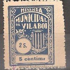 Sellos: HISENDA MUNICIPAL DE VILA BOI 5 CTMS. Lote 39996668