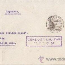 Sellos: CENSURA MILITAR. BANDO NACIONAL, GIJÓN (ASTURIAS). Lote 40012665