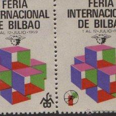 Sellos: VIÑETA FERIA INTERNACIONAL BILBAO VIZCAYA 1969 FERIA MUESTRAS. Lote 40064342