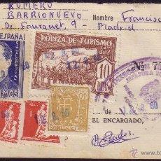 Sellos: ESPAÑA. (CAT. GÁLVEZ 36+VIÑETAS). 1960. DOCUMENTO. REINTEGRADO CON VIÑETAS. MAGNÍFICO Y RARO.. Lote 37273180