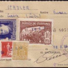 Sellos: ESPAÑA. (CAT. GÁLVEZ 36+VIÑETA+FISCAL). 1960. DOCUMENTO. REINTEGRADO CON VIÑETAS. MAGNÍFICO Y RARO.. Lote 37273573
