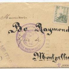 Sellos: GUERRA CIVIL 1938, CARTA A FRANCIA, REGIMIENTO INFANTERIA OVIEDO Nº 8 BATALLON 405, CURIOSO REMITE. Lote 40194686