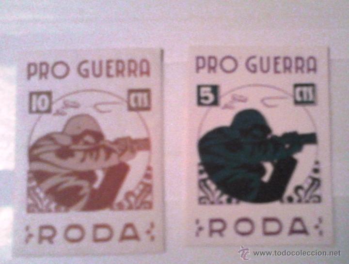 VIÑETAS GUERRA CIVIL ``RODA DE TER'' (BARCELONA ), PRO-GUERRA (Sellos - España - Guerra Civil - Viñetas - Nuevos)