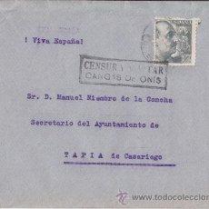 Sellos: SOBRE CENSURA MILITAR. CANGAS DE ONIS (ASTURIAS) ENERO 1941. Lote 40352849