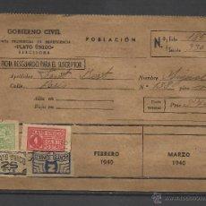 Sellos: B97-CARTILLA CARNET 1940 JUNTA PROVINCIAL BENEFICENCIA PROVINCIAL BARCELONA .PLATO UNICO Y DIA SIN P. Lote 40373007