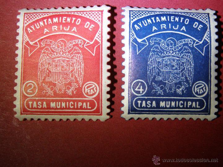 Sellos: Lote 2 Pólizas Local 2 y 4 Ptas. - AYUNTAMIENTO ARIJA - TASA MUNICIPAL - BURGOS - FISCALES - RARO - Foto 3 - 41927667