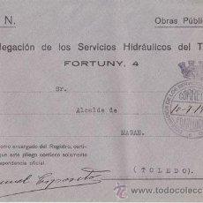 Sellos: SOBRE CON FRANQUICIA SERVICIOS HIDRÁULICOS DEL TAJO, 1939, CIRCULADA A MAGÁN, TOLEDO. Lote 40491443