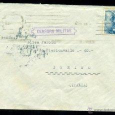 Sellos: *** PRECIOSA CARTA 1939 CON CENSURA BARCELONA CUARTEL DE LEPANTO POR EL SACERDOTE CTV (ITALIANO) ***. Lote 40642199
