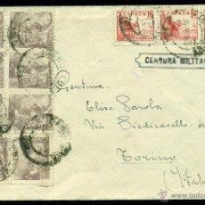 Sellos: *** PRECIOSA CARTA 1939 CON CENSURA BARCELONA CUARTEL DE LEPANTO POR EL SACERDOTE CTV (ITALIANO) ***. Lote 40642425