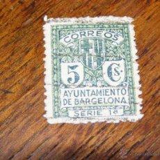 Sellos: SELLO VIÑETAS CORREOS MUNICIPAL AYUNTAMIENTO DE BARCELONA 5 CENTIMOS CTS. SERIE 1ª - NUM. REVERSO -. Lote 40689332