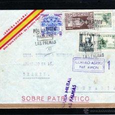 Sellos: GUERRA CIVIL, SOBRE PATRIOTICO ¡VIVA ESPAÑA! DE LAS PALMAS A ALEMANIA, AÑO JUBILAR COMPOSTELANO 1937. Lote 40691379