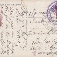 Sellos: POSTAL DE ALEMANIA A SESTAO. CENSURA MILITAR BILBAO VIZCAYA. 1937. LUJO. Lote 40698162