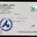 Sellos: TARJETA POSTAL BAUTISTA VERNIA GARCIA EXPORTADOR DE FRUTAS VALENCIA A ALEMANIA, CENSURA ALEMANA. Lote 40788441