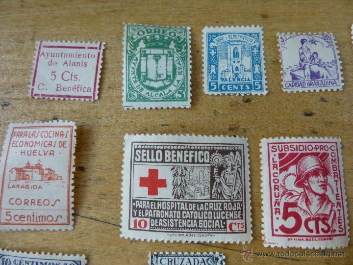Sellos: 25 sellos de beneficencia, nuevos, con su goma, diferentes - Foto 2 - 40836121