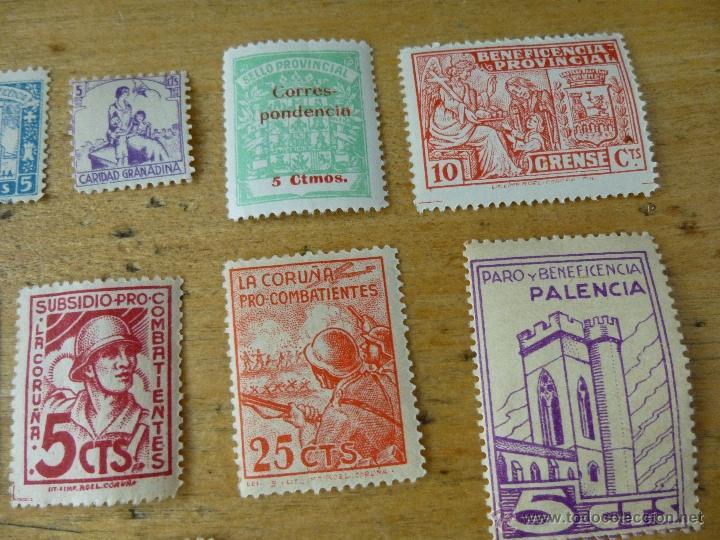 Sellos: 25 sellos de beneficencia, nuevos, con su goma, diferentes - Foto 3 - 40836121