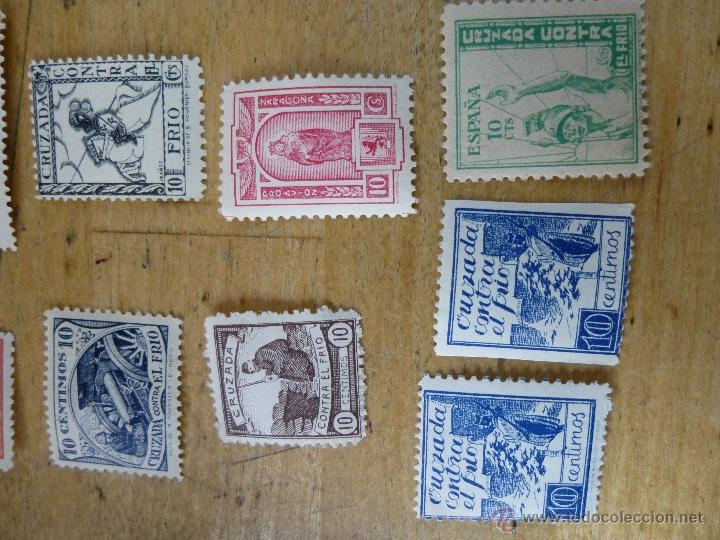 Sellos: 25 sellos de beneficencia, nuevos, con su goma, diferentes - Foto 4 - 40836121