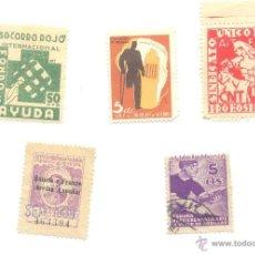 Sellos: 5 SELLOS AYUNTAMIENTO MADRID ASTURIAS CNT FAI MUTILATS GUERRA SOCORRO ROJO GENERALITAT A CLASIFICAR. Lote 40904477
