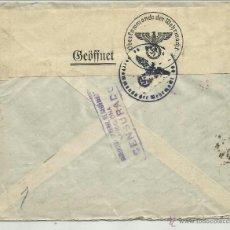 Sellos: CIRCULADA 1941 CON CENSURA DIRECCION GENERAL DE SEGURIDAD DE BARCELONA A ALEMANIA 10 SELLOS . Lote 40924497