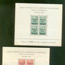 Sellos: AYUNTAMIENTO DE BARCELONA. EDIFIL 40/ 41 **. Lote 40928892
