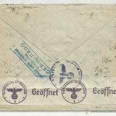 Sellos: CIRCULADO 1940 DE BARCELONA A ALEMANIA CON CENSURA DIRECCION GENERAL DE SEGURIDAD . Lote 41011989