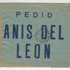Sellos: CIRCULADA 1944 ANIS DEL LEON D JEREZ A MAINZ ALEMANIA CENSURA DIRECCION GENERAL SEGURIDAD . Lote 41017841