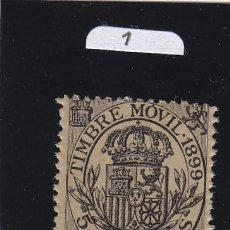 Sellos: FISCAL 101 TIMBRE MOVIL 1899 CATALOGO GALVEZ NUEVO SIN CHARNELA 5 CTS. NEGRO. Lote 41054444