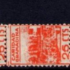 Francobolli: GRANADA 52/6 (GÁLVEZ B374/8) SERIE COMPLETA CON FIJASELLOS. Lote 41444896