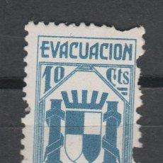 Sellos: CL2-451 GUERRA CIVIL - EVACUACION REFUGIADOS - 10 CTS AZUL. Lote 41622895