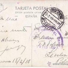 Sellos: POSTAL DE SALAMANCA A LISBOA. MARCA CUARTEL GENERAL DEL GENERALÍSIMO. 1938. Lote 41636495