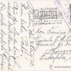 Sellos: POSTAL CIRCULADA DE ALEMANIA A UN TENIENTE DE HUESCA. 1938. CENSURA MILITAR. Lote 41668415