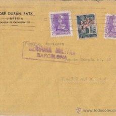 Sellos: SOBRE CIRCULADO DE BARCELONA. 1939 SELLO AYUNTAMIENTO DE BARCELONA. SOBRECARGADO. CENSURA.. Lote 41705260