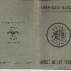 Sellos: A200-CARNET CARTILLA FALANGE SERVICIO SOCIAL VALENCIA 5 SELLOS DE 2 PESETAS RAROS.BENEFICOS,ESPAÑA G. Lote 41860074