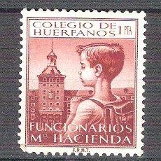 Sellos: COLEGIO DE HUERFANOS. FUNCIONARIOS DE HACIENDA. 1PTA. NUEVO.. Lote 42148430
