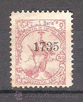 SOCIEDAD GENERAL DE CUPONES PROGRESO. 50 CTS. NUEVO (Stamps - Spain - Spanish Civil War - Cinderella Stamps - Used)