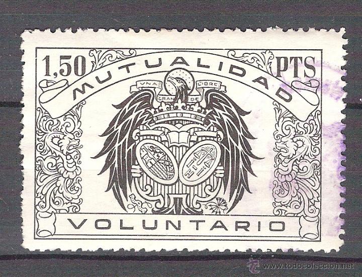 MUTUALIDAD VOLUNTARIO. 1,50 PTAS. (Sellos - España - Guerra Civil - Viñetas - Usados)