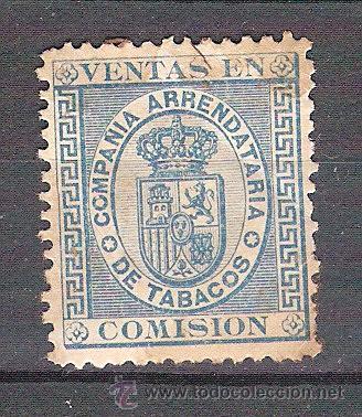 SELLO FISCAL DE LA COMPAÑÍA ARRENDATARIA DE TABACOS. (Sellos - España - Guerra Civil - Viñetas - Usados)