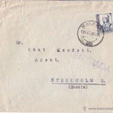 Sellos: SOBRE CIRCULADO DE MÁLAGA A SUECIA. 1938. 50 CTS ISABEL LA CATÓLICA. Lote 42148872
