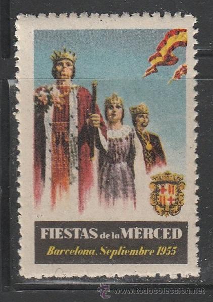 FIESTAS DE LA MERCED1955. BARCELONA. VIÑETA,**. (TD07) (Sellos - España - Guerra Civil - Viñetas - Nuevos)
