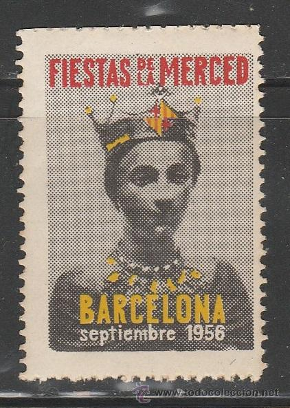 FIESTAS DE LA MERCED1956. BARCELONA. VIÑETA,**. (TC09) (Sellos - España - Guerra Civil - Viñetas - Nuevos)