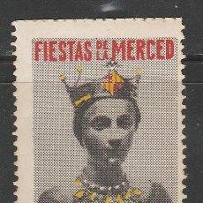 Sellos: FIESTAS DE LA MERCED1956. BARCELONA. VIÑETA,**. (TC09). Lote 42523184