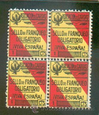 ASOCIACIÓN DE CARIDAD .- SELLO DE FRANQUEO OBLIGATORIO (Sellos - España - Guerra Civil - Beneficencia)