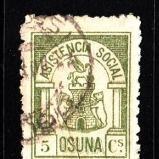 Sellos - OSUNA GALVEZ 538 - AÑO 1937 - ASISTENCIA SOCIAL - 42623028