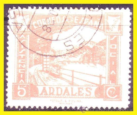 MÁLAGA, ARDALES, GUERRA CIVIL, FESOFI Nº 5 (O) (Sellos - España - Guerra Civil - Locales - Usados)