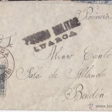 Sellos: SOBRE CIRCULADO DE LURCA A ALLANDE (ASTURIAS) 1940 CENSURA MILITAR. LLEGADA BENDÓN. Lote 42914110