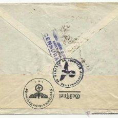 Sellos: CIRCULADA 1941 DE BARCELONA A ALEMANIA CENSURA DIRECCION GENERAL DE SEGURIDAD Y MARCAS NAZIS. Lote 43022791