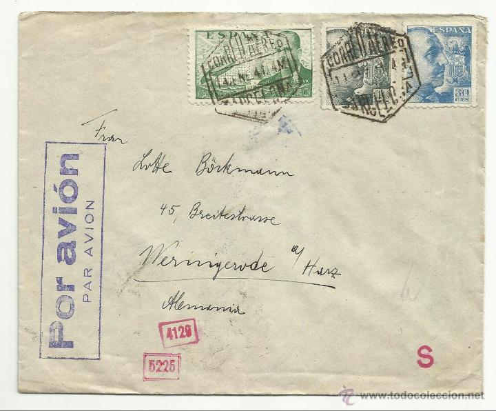 Sellos: circulada 1941 de barcelona a alemania censura direccion general de seguridad y marcas nazis - Foto 2 - 43022791